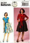 Butterick Pattern B6285 Ladies 50s Vintage Retro Top Skirt by Gertie 6-14 14-22