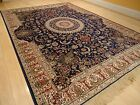 Silk Rugs Traditional Large Rug 8x12 Navy Blue Area Rugs 5x7