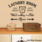 NEW The Laundry Room Removable Wall Sticker