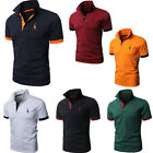 Kyпить New Mens Stylish Slim Fit Cotton Short Sleeve Casual Polo Shirts T-shirt Tee Top на еВаy.соm