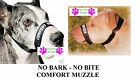 DOG GROOMING TRAINING No Bark No Bite Comfort Easy Fit Adjustable Muzzle 2 SIZES