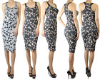 IUILE  Knee Length Womens Sexy Slim Fit Cocktail Bodycon Geo Tribal Dress Small