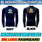 Mowave fluorescence men junior rashguards surfing shirts long sleeve swimwear