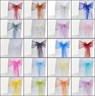 1 10 50 100 Organza Sashes | Chair Cover Chair Sash Bows Wider Bow Wedding Party