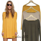 2015 Women Long sleeve knit dresses Casual Costume holiday dress S-XL 3 Color