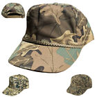 Cotton Twill Camouflage Camo 5 Panel Baseball Hats Caps Hunting Fishing Woodland