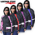New Ladies Motorcycle Cordura Waterproof Jacket Vents & Armours Size 6 to 22