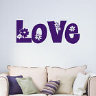 Love Flowers Teenagers Bedroom Living Room Decorative Vinyl Wall Art Sticker