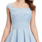 40s 50s Retro Vintage Floral Cotton Flared Bridesmaid Cocktail Swing Prom Dress