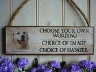 GOLDEN RETRIEVER SIGN GARDEN SIGN OWN WORDING OWN NAMES PERSONALISED DOG PLAQUE