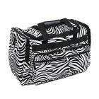 "Personalized Zebra Black White 19"" Duffle Sports Gym Tote Bag Monogram"