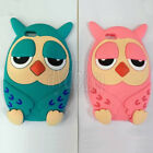 Owl Cartoon Silicone Soft Back Case Cover For For Apple iPhone 6/6S & 6/6S Plus