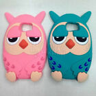 Cute Owl Cartoon Silicone Soft Back Case Cover For Samsung Galaxy S6 Phone