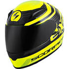 Scorpion EXO-R2000 Fortis Neon Full Face Helmet Clear Shield Free Size Exchanges