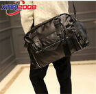 Men's Leather Messenger Laptop Briefcase Shoulder Bag overnight bag Handbag