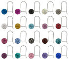 Sterling Silver Shamballa Ball Safety Stud Hooks PRECIOSA Crystals * Many Colors