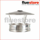 "KC Twinwall Flue Pipe Rain Cap 125mm 5"" or 150mm 6"""