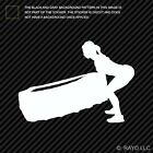 Girl Tire Flip Sticker Die Cut Decal fitness woman women workout