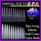 12pc Long Stiletto Claw Nail Tips False Pointy Nails Sharp Spike Gel Acrylic
