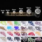 Wholesale 3/4/6/8/10/12mm Czech Round Faceted Crystal Glass Loose Beads Crafts