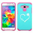 For Samsung Core / Grand Prime Shockproof Impact Hard Case Love Heart Volleyball