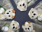 Bridesmaid wedding teddy bear gift favour in silver gold burnt orange lemon pink