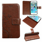 Retro Flower Butterfly Pattern PU Leather Wallet Case iPhone LG G5 Samsung S6/7