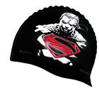 AQUARAPID SUPERMAN 'INJUSTICE' LOGO LONG LIFE SILICONE SWIMMING SWIM CAP
