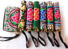 Lot Chinese Ethnic Embroidered Double Zipper Clutch Bag Handbag Wallet Purse