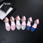 New Fashion Kids' Girls' Sandals Heels Shoes Glitter Party Dress Princess Shoes