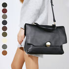 WOMEN'S PURSE NUTELA FLAP TOTE SHOULDER CROSS EVERYDAY BAG REAL  COWHIDE LEATHER