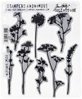 Wildflowers Stamps OR Thinlits Dies - Stampers Anonymous - Tim Holtz - CMS253