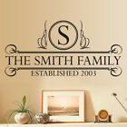 Personalised Family Name With Quote Wall Sticker, Decal, Vinyl - Uk