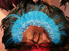 SAMBA Costume Large Shoulder Piece/ Wings 9 Colors Real Feathers + Lace OUTFIT