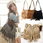 Vintage Women Tassel Bag Fringe Shoulder Messenger Hobo Handbag Purse Satchel