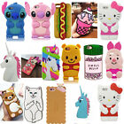 3D Cartoon Soft Silicone Phone Back Case Cover Skin For Various Phones Protector