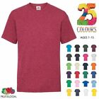 FRUIT OF THE LOOM PLAIN CHILDREN'S & YOUTH'S  T-Shirts Kids Tee T Shirt