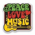 2 x Love Peace Music Vinyl Sticker Laptop Travel Luggage Car #5943