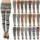 Floral Aztec Tribal Indian Print Leggings Abstract Super Soft ONE SIZE OS