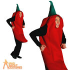 Adult Chili Pepper Costume Unisex Food and Drink Novelty Fancy Dress Outfit New