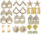 Gold Polished Pin On Military Rank Insignia Sets