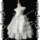 #A6W7 Girl Christening Baptism Holy Communion Birthday Evening Night Gown Dress