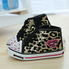NEW Children Kids Girl Leopard Sports Sneakers Casual Shoes