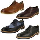 Mens Clarks Smart Casual Brogue Style Shoes - Pitney Limit