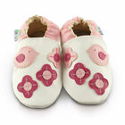 Pretty Birds Soft Leather Baby Shoes | Toddler Slippers Girls | Size 0 - 3 Years