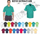 8210 Golf Shirt UltraClub Cool & Dry Mesh Pique Men's Solid Golf Polo S-3XL