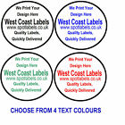 Round White Sticky Labels,Personalised Free, Easy Peelable No Residue  43mm