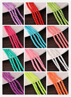 "Wholesale Matte Rubber Neon Round Loose Beads 15"" 4mm 6mm 8mm 10mm Bulk"