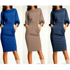 Elegant Womens Office Formal Business Work Party Sheath Tunic Pencil Dress FOUK