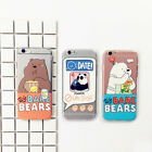 Funny Cartoon Three Bear Clear Soft Phone Case Skin For iPhone 5S 6 6S 7 8 Plus